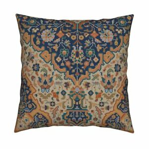 Kilim Islamic Persian Turkish Throw Pillow Cover w Optional Insert by Roostery
