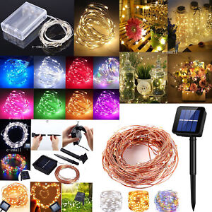 Solar LED String Lights Copper Wire Waterproof Outdoor Fairy LED Decor Garland $4.49