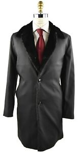 NEW KITON OVERCOAT WOOL AND WEASEL DYED FUR SZ 40 US 50 EU 19OC17