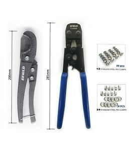 Pex Pipe Tube Crimping tool Kit Pipe cutter +40 Rings Cinch Clamps(Certified)  $31.99