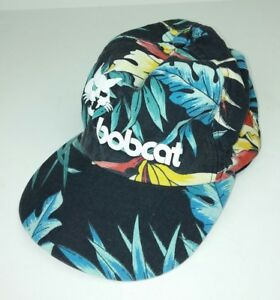 Bobcat K-Products Hat Vintage Jungle Tropical Flowers Snapback Adjust Trucker