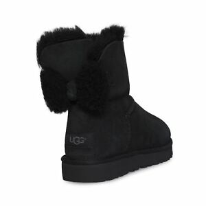 UGG ARIELLE BLACK WOMEN`S SUEDE SHEEPSKIN BOOTS SIZE US 8UK 6.5EU 39 NEW