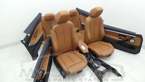BMW F32 El. Sport Leather Trim Exclusive Leather Saddle Brown Interior Design