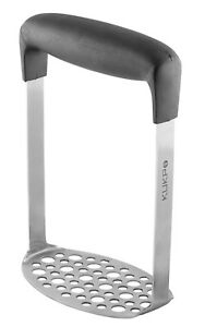 Stainless Steel Potato Masher with Broad and Ergonomic Horizontal Handle