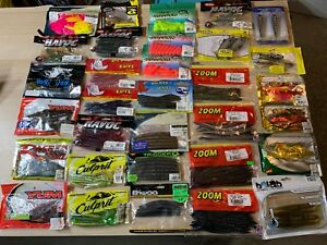 Huge Lot Of Fishing Tackle - Worms Craws Swimbaits (Combined Shipping)