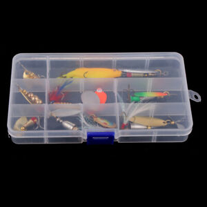9pcsset Metal Fishing Lures Spinners Baits & Spoons for Bass Trout Salmon
