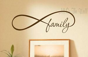 Design With Vinyl Top Selling Decals Infinity Family Wall Art 8 X 20 Black