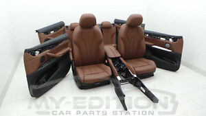 BMW F16 X6 Sport Leather Trim Leather Seats Terra Cognac Brown Interior Design