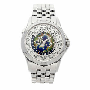 Patek Philippe Complications World Time Auto Platinum Mens Watch 51311P-001