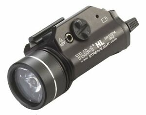 Streamlight TLR-1 High Lumen Flashlight Rail-Mount Tactical Light wStrobe Black