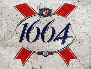 TIN SIGN quot; 1664 Beer quot; Beer Mancave Wall Decor