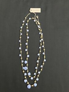Marco Bicego 18K Yellow Gold Paradise Chalcedony Necklace 36