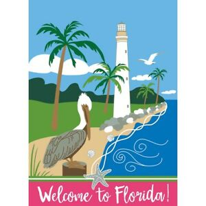 WELCOME TO FLORIDA - Lighthouse - Double Applique - 13