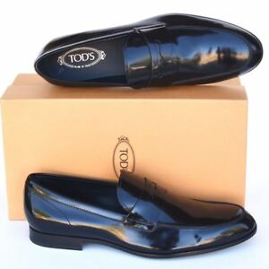 TOD'S Tods New sz UK 12 - US 13 Mens Designer Leather Dress Loafers Shoes black