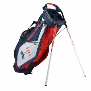 Red White Blue USA Under Armour Storm Match Play Stand Golf Bag 10 Pockets New