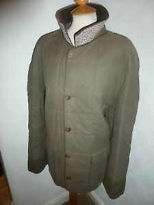 MENS 44 AQUASCUTUM GREEN PADDED WINTER MILITARY FIELD HARRINGTON JACKET COAT