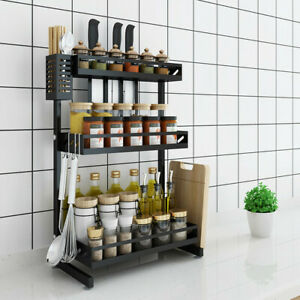 3Tier Sink Dish Drying Rack Stainless Steel Kitchen Shelf Drainer Spice Jar Rack