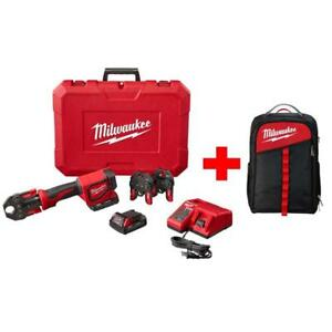 Milwaukee Press Tool Kit Short Throw PEX Crimp Jaws Backpack Cordless M18 18V