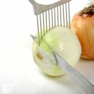 Stainless Steel Onion Slicer Vegetable Tomato Holder Cutter Kitchen Tools Gadget