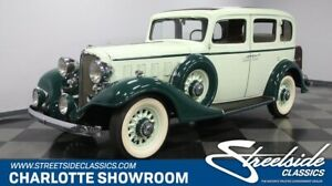 1933 Series 50 Model 57 classic vintage chrome white walls saloon green tan broadcloth steamer trunk