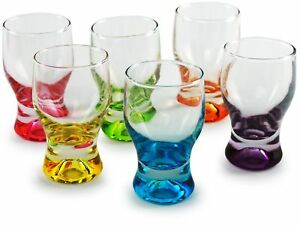Circleware 42796 Shot, Set of 6, Heavy Base Glassware Drinking Whiskey Glass