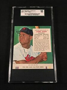 1955 RED MAN TOBACCO - LARRY DOBY HOF #18 WITH TAB - SGC GRADED GEM MINT 10 98