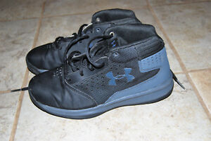 Under Armour Sneakers Shoes Youth Size 3Y BlackGray GirlsBoys Basketball