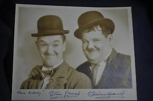 *AUTHENTIC* SIGNED* Photo Laurel & Hardy by Bud