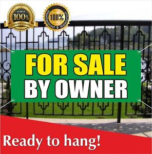 FOR SALE BY OWNER Banner Vinyl Mesh Banner Sign Many Sizes Discount Clearance $214.96