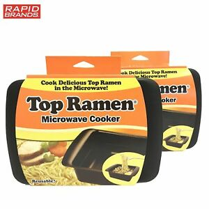 Top Ramen Rapid Cooker 2 Pack - Microwave Ramen in 3 Minutes - BPA Free and
