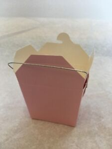 24 pcs Chinese Take Out Food and Party Favor Boxes: 8 Oz. (1/2 Pint) - Pink