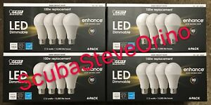 16-pack FEIT Electric LED Bulbs 3000K Bright White Dimmable 17.5W = 100W E26