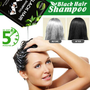 5pcslot Instant Black Hair Shampoo fast and White Hair Colored in 5 Minutes