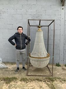 Huge 180cm Tall French Antique Chandelier RARE