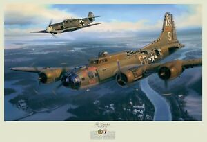 A Higher Call Art Print Franz Stigler Charlie Brown WWII B-17 Bf-109 Luftwaffe