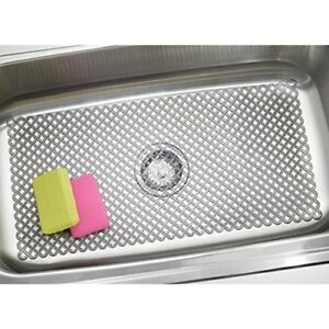 Mdesign Sink Protector Mat For Kitchen Sinks - Extra Large 12
