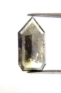 Rare Big 4.56Ct Green Gray Antique Bullet Step cut African Loose Natural Diamond
