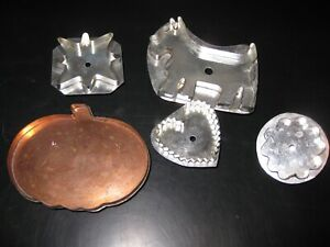 Set of 5 Hand Made Cookie Cutters Country Living  3-Signed  M Hill