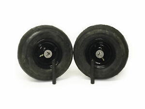 (2) Universal 11x4.00-5 Ribbed Caster Wheel Assembly Zero Turn 34