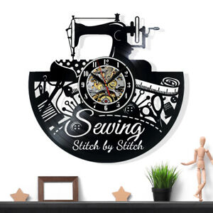 Sewing Wall Clock Home Items Girls Decor For Adults Art Decorations Men Gift $14.55