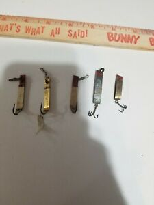 Lot of 5 Vintage South Bend Trix-Oreno and Super-Duper Fishing Lures