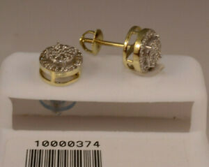 Man Studs Gold And Diamond Earrings Screw Back Stud Earrings .30 ct round shape