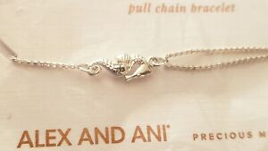 💋 Alex and Ani SEAHORSE Pull Chain Bracelet Sterling Silver NWT $68