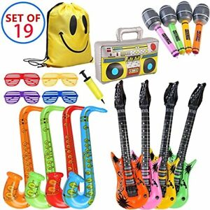 MI KAKA Inflatable Instruments Rock Star Toy Set for Party Decoration Prop Photo