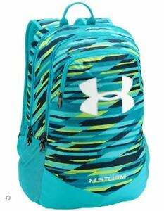 UNDER ARMOUR BOYS SCRIMMAGE UA STORM BACKPACK LAPTOP SCHOOL BOOK BAG BLUE GREEN
