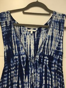 Cool Change Tie Dye Bluewhite Beach Dress Size Small