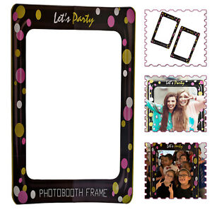 Let's Party Prop Theme Selfie Photo Frame For Wedding Birthday Baby Shower Party