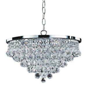 Light Flushmount Chrome Faceted Crystal Ball 13 In Flush Mount Ceiling Fixture
