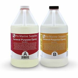 Crystal Clear Epoxy Resin General Purpose Bar Table Top Coating 1 Gallon Kit $54.95