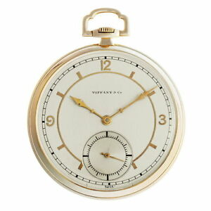 TIFFANY Pocket Watch Cal.77 Men's Antique Hand-Winding YG From Japan Used